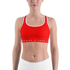 S & N Sports Bra - Red - Your Mind Is Your Limit
