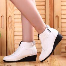 Ботильоны Обувь Женская мода женские ботинки осень-зима кожаные туфли молния(China)