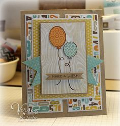 Birthday card by Jen Tapler using Verve Stamps.