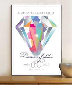 Queen Elizabeth Diamond Jubilee Poster Print