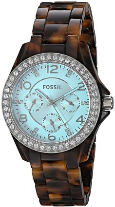 Fossil Women's ES4012 Riley Multifunction Tortoise Acetate Watch >>> Find out more about the great watch at the image link.
