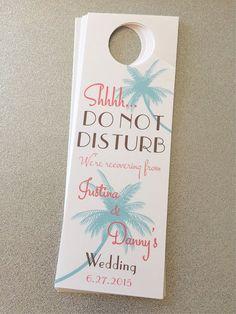 Wedding Door hangers for Destination/Beach Wedding- Customizable Aruba, Jamaica, Turks and Caicos, Punta Cana, Bahamas, Hawaii and more!                                                                                                                                                                                 More