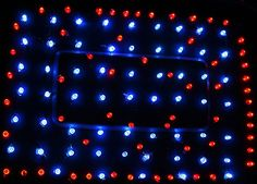 "Christmas Red/Blue LED lights to grow vegetables indoors .. from ""The Cheap Vegetable Gardener"" - Can't wait to do this!"