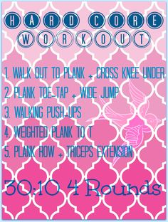 challenging plank workout