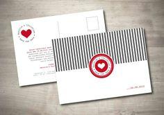 Save the Date Karte - Streifenliese von Mazet Design auf DaWanda.com