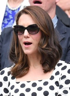 LONDON, ENGLAND - JULY 03: Catherine, Duchess of Cambridge attends day one of the Wimbledon Tennis Championships at Wimbledon on July 3, 2017 in London, United Kingdom. (Photo by Karwai Tang/WireImage) via @AOL_Lifestyle Read more: https://www.aol.com/article/lifestyle/2017/07/05/kate-middleton-new-haircut-wimbledon/23017426/?a_dgi=aolshare_pinterest#fullscreen