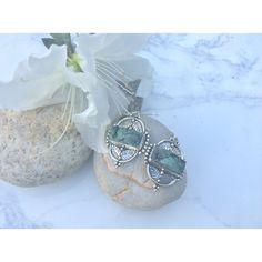 Boho Genuine Tibetan Turquoise Earings.OOAK.Last pair left.