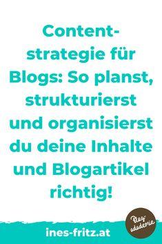 Die Content-Strategie für deinen Blog unterscheidet dich von Hobbybloggern und bringt deinen Blog aufs nächste Level: mehr Leser erreichen, mehr Einnahmen mit deinem Blog erzielen und endlich produktiv und professionell bloggen! Die besten Tipps für die Erstellung und Umsetzung!   #blogstrategie #contentplan #redaktionsplan #toolsblogger #tippsblogger #professionellbloggen #mitbloggengeldverdienen #blogbusiness #besserbloggen #bloggenlernen #erfolgreichbloggen Affiliate Marketing, Content Marketing, Office Organisation, Business Inspiration, Seo, Videos, Passive Income, Search Engine Optimization, Social Media