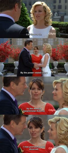 Image result for 30 rock jack and avery wedding