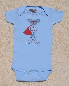 Organic Cotton Baby Clothing | Boy Wonder | Baby Boy Bodysuit — Little Marsupials