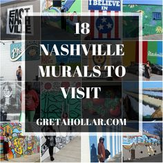 If you're visiting or living in Nashville you have to check out some of the amazing murals. I've rounded up 18 of my favorites on the blog today.
