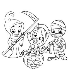 halloween coloring pages for kids for androidios u0026 windows phone