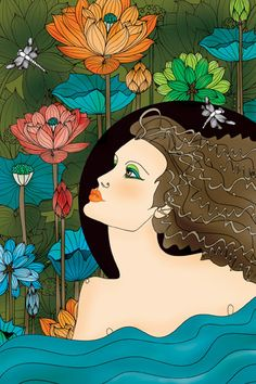 Aquarius - Illustrations - 12 Zodiac Signs by Ella Tjader, via Behance - http://www.simplysunsigns.com