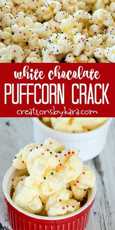 White Chocolate PuffCorn Crack White Chocolate PuffCorn Crack Two ingredient White Chocolate Puffcorn Crack is simple and melt in your mouth delicious! Everyone loves this puffcorn made with white almond bark. Snack Mix Recipes, Popcorn Recipes, Candy Recipes, Yummy Snacks, Holiday Recipes, Cooking Recipes, Yummy Food, Dessert Recipes, Snack Mixes