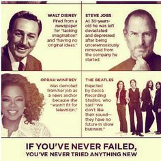 If youve never failed