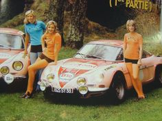 Marie-Pierre Palayer is on the right, with an Alpine-Renault Trucks And Girls, Car Girls, Sport Cars, Race Cars, Vintage Cars, Antique Cars, Matra, Women Drivers, Course Automobile