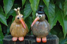 Vreemde vogel 5. 15 cm hoog € 65,00 (rechts verkocht)