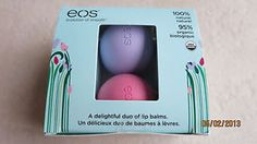 eos Smooth Lip Balm Sphere Easter / Spring 2-Pack Strawberry Sorbet Passion Frui | eBay