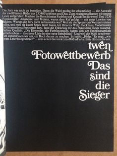 Twen magazine | Willy Fleckhaus | Dec 69