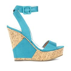 Sole Society Holly wedge sandal ($50) ❤ liked on Polyvore