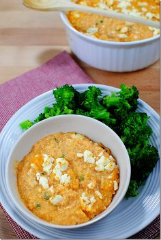 """Buffalo chicken quinoa """"mac"""" and cheese! Two kinds of cheese. Yummy! I didn't have buffalo sauce, so I just used some Tabasco. I seasoned chicken tenders with Spike original seasoning. Turned out great!"""