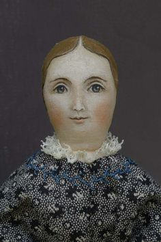Portrait-style painting on hand crafted cloth dolls created by artist Susan Fosnot. Each is one-of-a-kind, dressed in antique fabrics, and a unique personality. Doll Face Paint, Doll Painting, Felt Dolls, Doll Toys, Rag Dolls, Antique Dolls, Vintage Dolls, Doll Quilt, Felt Art