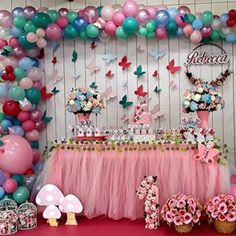 Butterfly Effect 🦋 repost: Butterfly Party Decorations, Birthday Decorations, Butterfly Baby Shower, 3rd Birthday Parties, Baby Shower Themes, Shower Ideas, Balloons, Birthdays, Valentino