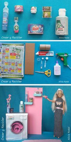 😍 7 ideas de miniaturas 😁 simples, fáciles y con reciclaje ♻️ DIY … - Das ist meine Nachbarschaft Barbie Dolls Diy, Diy Barbie Clothes, Barbie Doll House, Barbie House Furniture, Doll Furniture, Dollhouse Furniture, Furniture Ideas, Accessoires Barbie, Doll House Plans