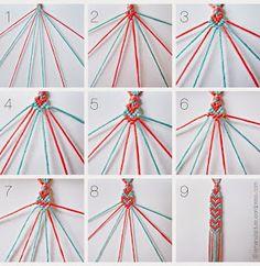 DIY Crafts and Projects: Heart Pattern Friendship Bracelet