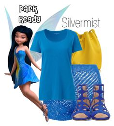 """""""Silvermist~ DisneyBound"""" by basic-disney ❤ liked on Polyvore featuring Lancaster, Lands' End and Jimmy Choo"""