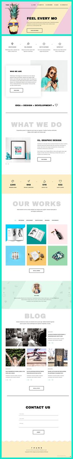 The Crazy is modern, beautiful and colorful Bootstrap HTML5 #Template for Web Agencies and #studios, also suitable for #freelancers website. Download Now!