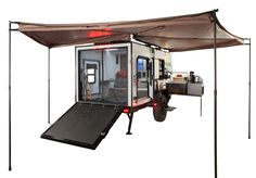 No Boundaries Travel Trailers / Toy Haulers by Forest River RV - campers - Adventure Motorcycle Camper Trailer, Motorcycle Tent, Off Road Camper Trailer, Tent Campers, Camper Trailers, Travel Trailers, Bike Trailer, Trailer Build, Adventure Trailers