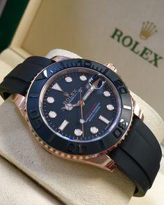 Rolex Yacht-Master 37 Rose Gold Oysterflex 268655