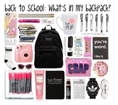 """What's in my Backpack!?"" by batmancrazy ❤ liked on Polyvore"