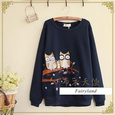Buy 'Fairyland – Owl Embroidered Pullover' with Free International Shipping at YesStyle.com. Browse and shop for thousands of Asian fashion items from China and more!