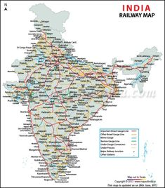 Train Route Map, Highway Map, India World Map, Trains, Geography Map, Asia Map, India Facts, Free Maps, Geography