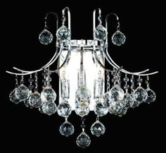Toureg Collection 16″ W Large Crystal Wall Sconce
