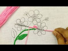 Very easy Brazilian Embroidery for beginners with Fly Stitch and Lazy Daisy Stitch Hand Embroidery Tutorial, Hand Embroidery Stitches, Embroidery Needles, Hand Embroidery Designs, Ribbon Embroidery, Embroidery Patterns, Smocking Patterns, Quilt Patterns, Sewing Patterns