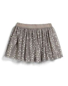 Honey Star-Print Tulle Skirt, Light Gray, Size 4Y-10Y by Stella McCartney at Neiman Marcus.