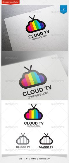 Buy Cloud TV Logo by payapple on GraphicRiver. Logo Template Features Excellent logo,simple and unique. Fully editable with AI and format 300 PPI CMYK. Hr Logo, Logo Tv, Tv Channel Logo, Event Logo, Entertainment Logo, Premium Logo, Monogram Logo, Letter Logo, Logo Inspiration