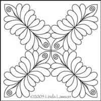 Digital Quilting Design Four Feather by Linda Lawson.