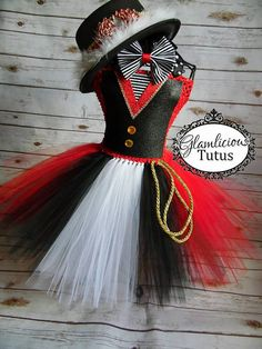 Ringmaster Tutu vestito Costume  Costume di di GlamliciousTutus