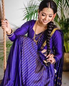 Indian Wedding Wear, Tamil Wedding, Indian Wedding Hairstyles, Saree Wedding, Indian Wear, Onam Saree, Marathi Saree, Modelling Poses, Indian Fashion