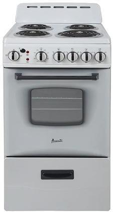 Avanti Eru200p0w 20 Inch White Electric Freestanding Range In 2020 Storage Drawers Electric Cooktop Kitchen Appliances