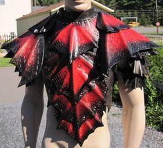 Épaules et poitrine d'armure Dragon Scale par SharpMountainLeather