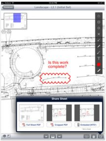A simple winning combination of mobile app, cloud share and iPad great display helps construction companies save big on printing costs.