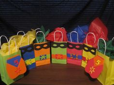 Superhero party favor bag idea
