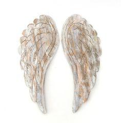 Wood Angel Wings Wooden Hand Carved nursery decor by KatDeco
