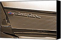 White 1957 Chevy Bel Air Fin II Photograph by Bill Owen - White 1957 Chevy Bel Air Fin II Fine Art Prints and Posters for Sale #belair #vintagecars #57chevy #cars #photography :)