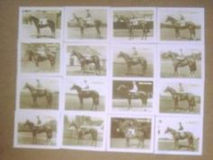 Horseracing Lester Piggott Famous Winners Full set of 16 Cards We pay UK postage